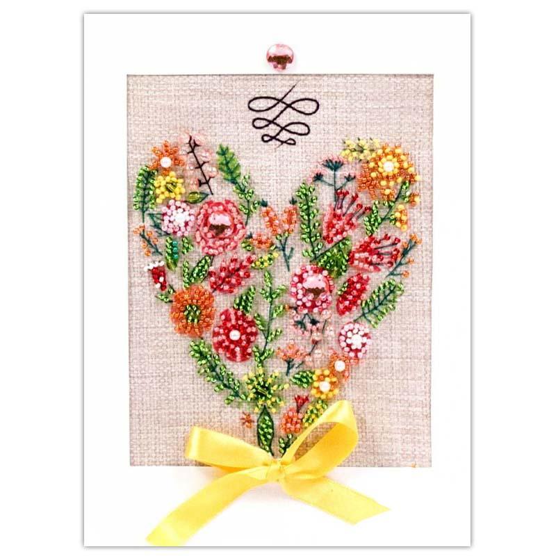 8295 Набор для создания открытки Матренин Посад ' С любовью' 12х17см