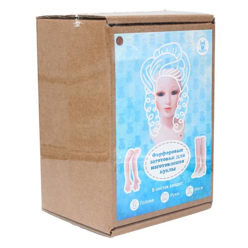 27026 НАБОР №2 'Дама' Фарфоровая заготовка для изготовления куклы: руки,ноги,голова гл.-карие