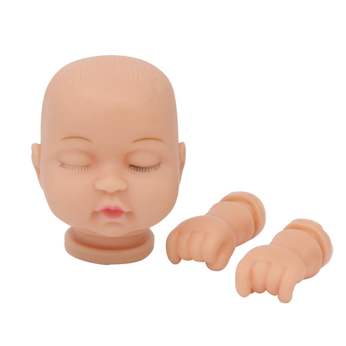 27037 НАБОР №6 Пластиковая заготовка для изготовления малыша 5,3*7см: руки,голова