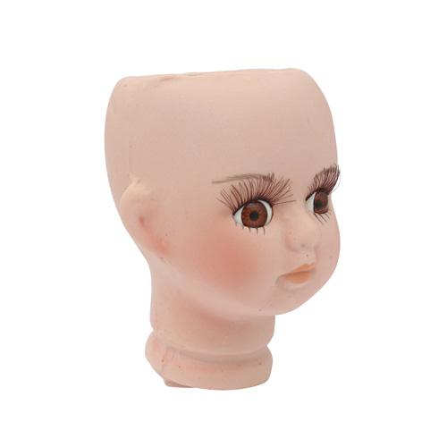 25138 Фарфоровая заготовка №2 'Голова для девочки': 4,5см*6,8см гл.-карие