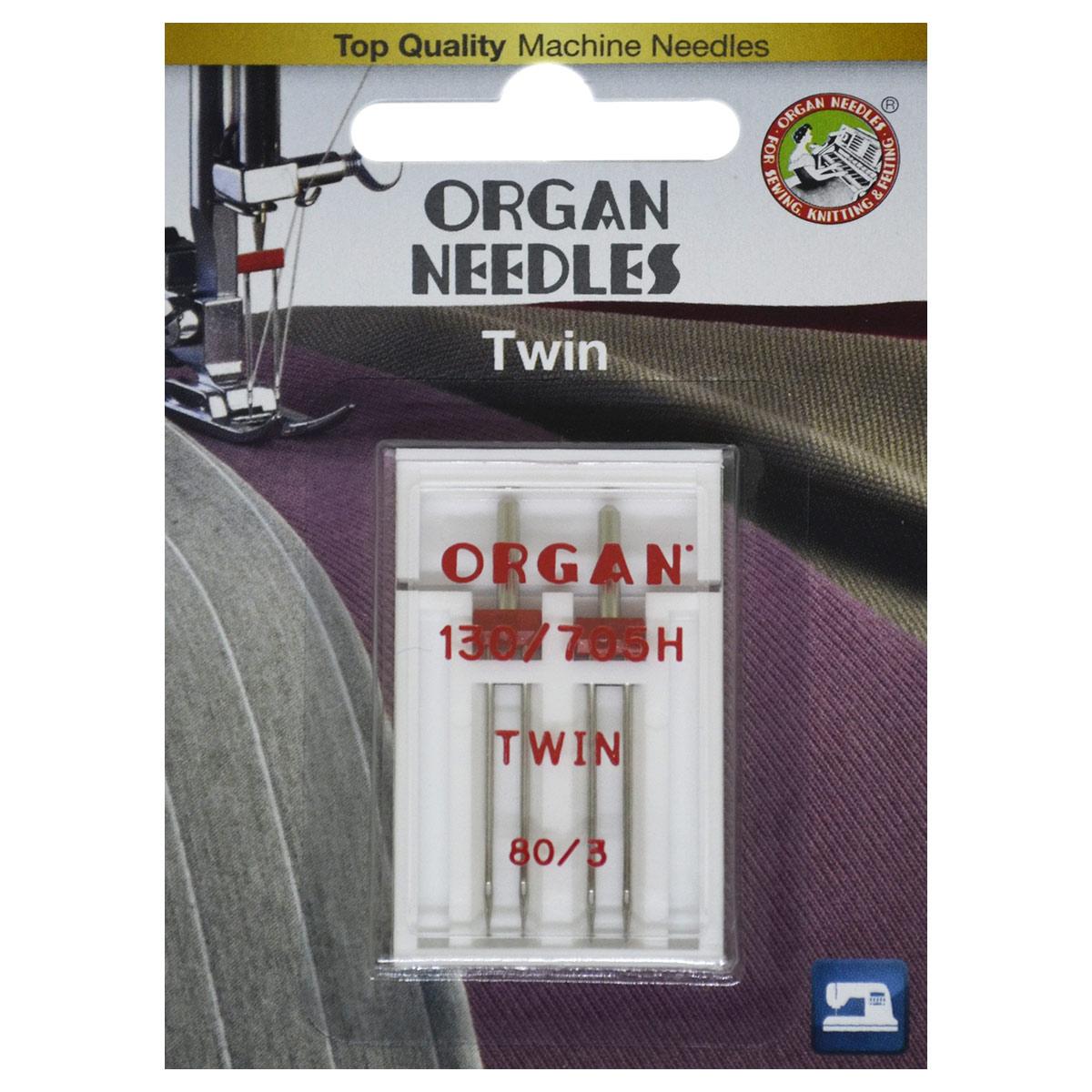 ORGAN иглы двойные 2-80/3 Blister