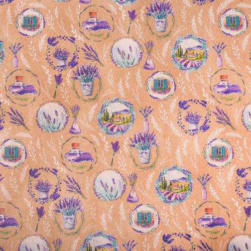 2747326 Бумага упаковочная крафтовая «Лавандовые мечты», 50*70 см