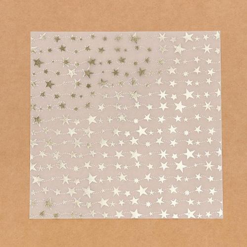 3470668 Калька декоративная c фольгированием «Волшебство на пороге», 20*20 см