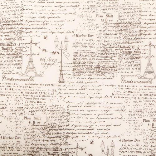 3876154 Пергамент для цветов «Газета», 50*70 см