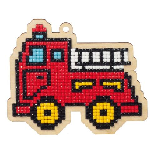 W0153 Подвеска 'Пожарная машинка' 101*86мм Гранни
