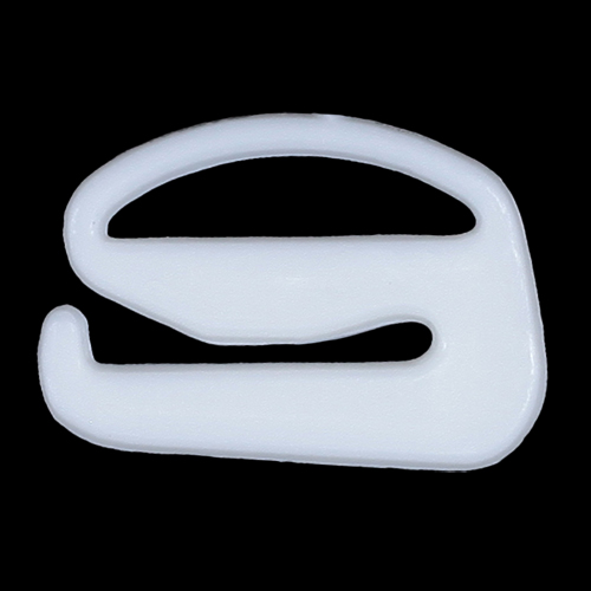 ГС1009 Крючок 12мм пластик, белый