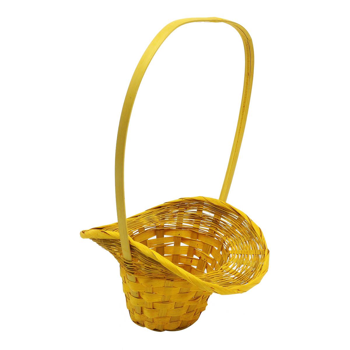 66915 Корзина плетеная Шляпа, 22*17*10см желтый B26-4