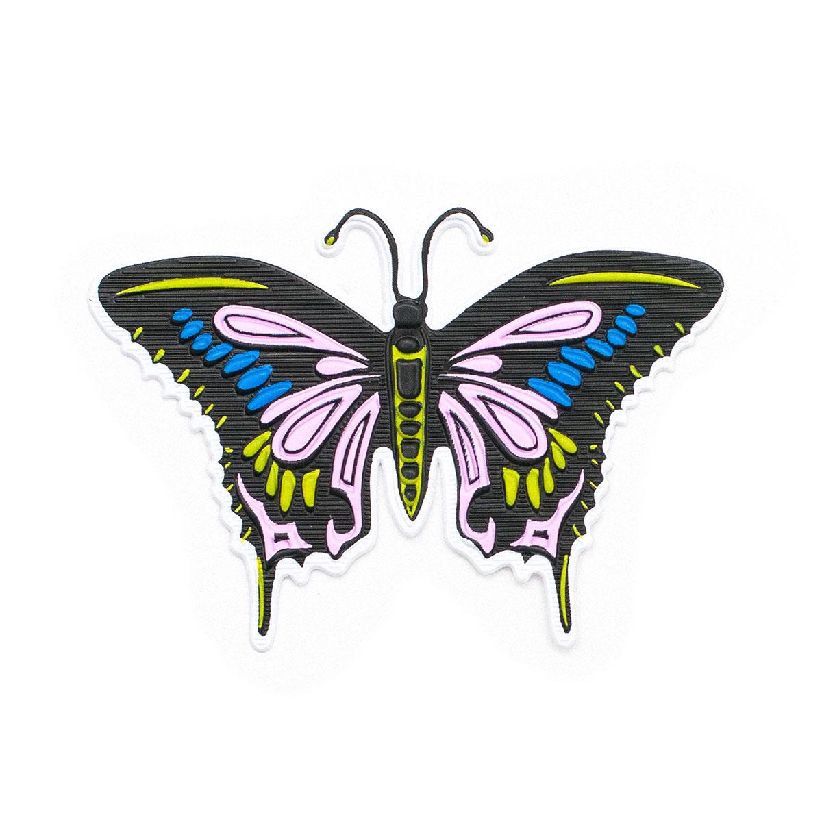 ГСФ1519 Термоаппликация Бабочка 63*43мм, черно-розовый