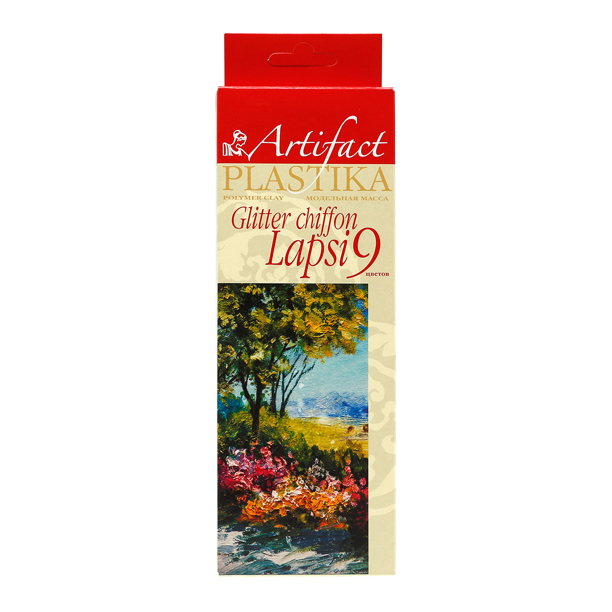 7109-49 Пластика отвержд. 'LAPSI GLITTER CHIFFON' 180 г (набор 9 цветов)