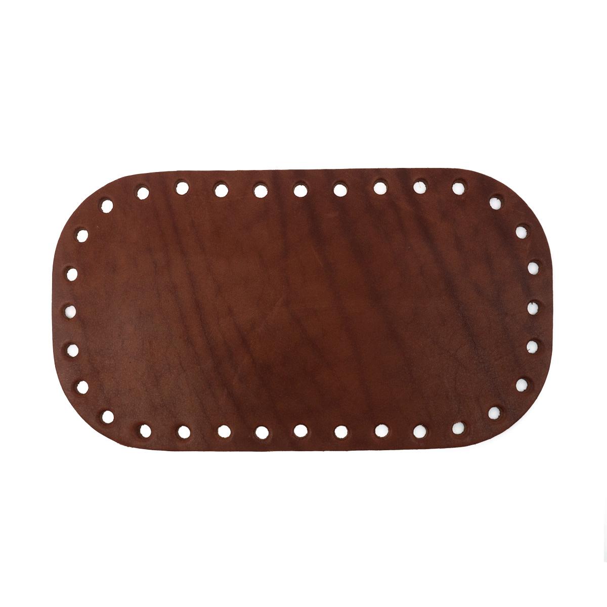 Дно для сумки 21,6см*12,2см, дизайн №501, 100% кожа