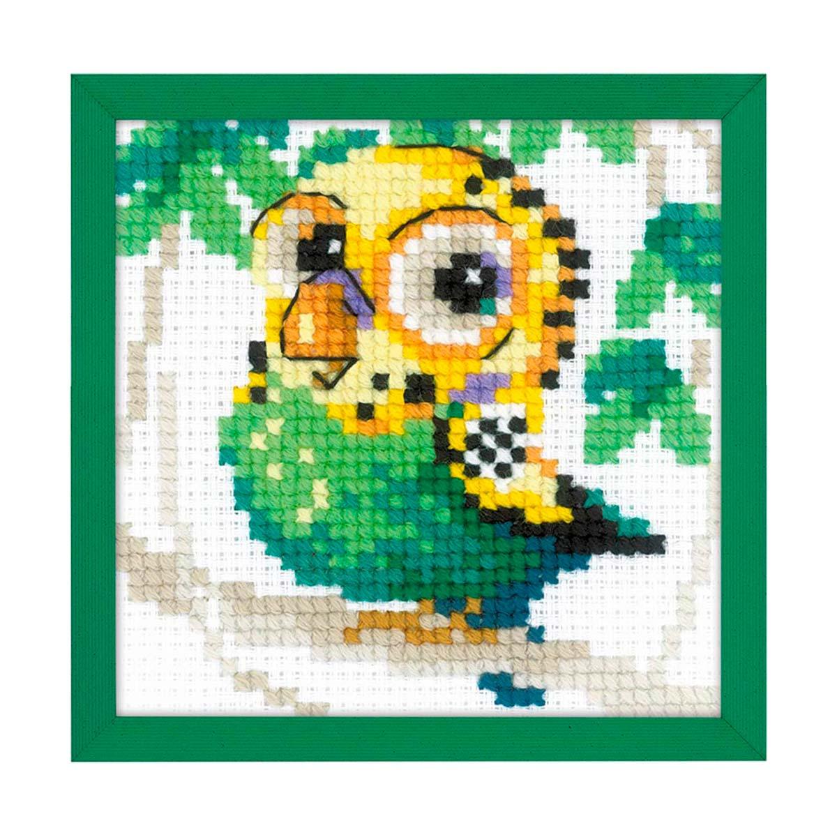 1785 Набор для вышивания Риолис 'Волнистый попугайчик'10*10см