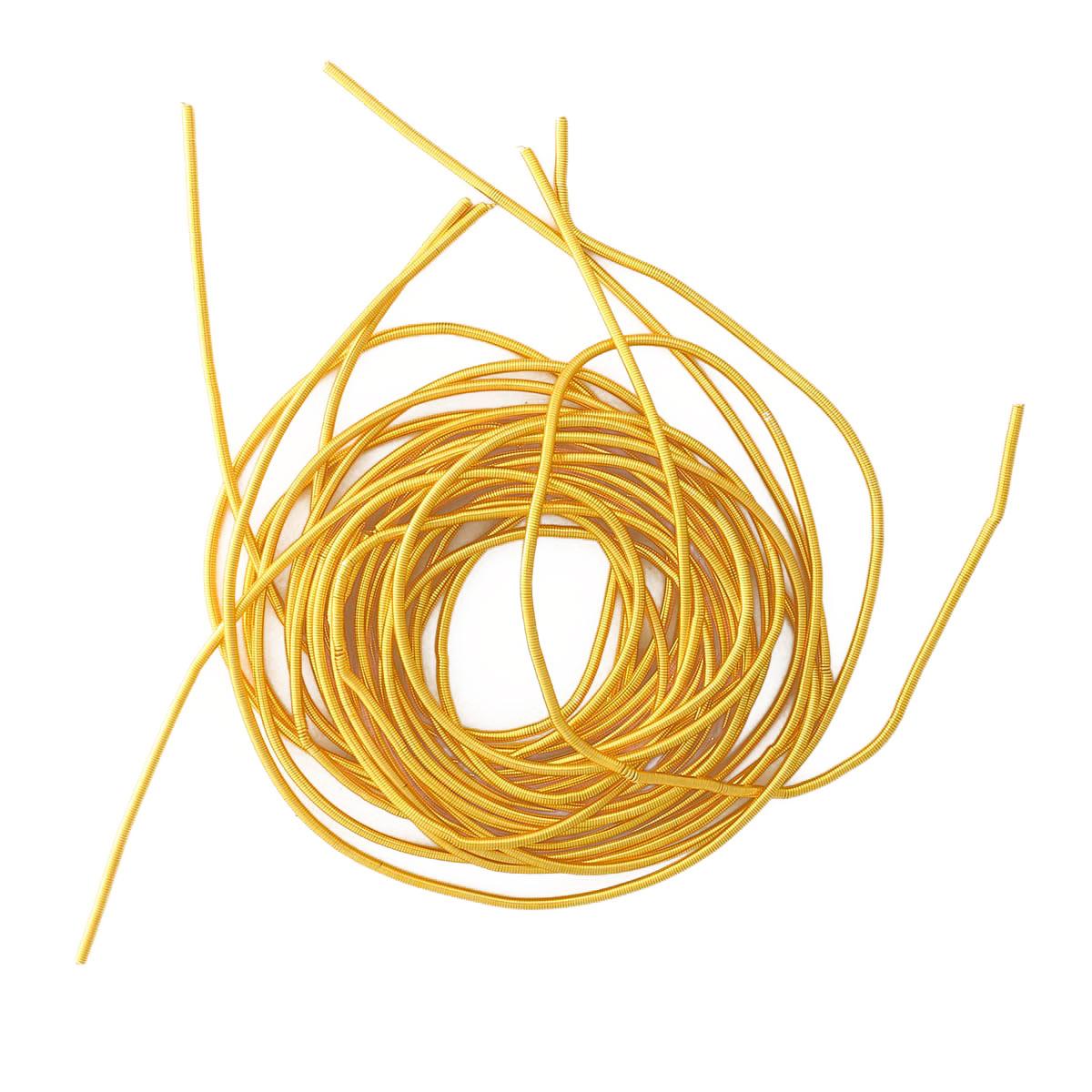 КА001НН1 Упаковка Канитель гладкая Золото 1 мм 5 грамм +/- 0,1 гр.