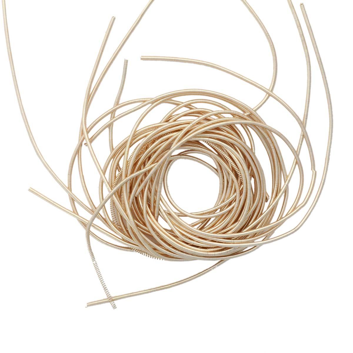 КА003НН1 Канитель гладкая Светлое золото 1 мм 5 грамм +/- 1 гр.