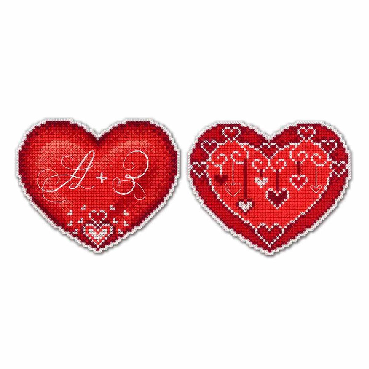 Р-262 Набор для вышивания на пластиковой канве МП Студия 'От всего сердца' 9*11см