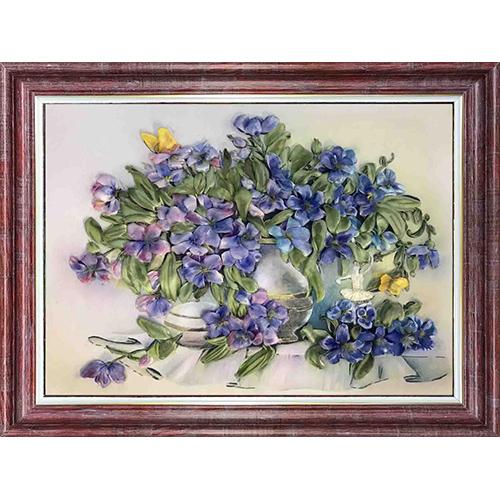 КЛ(л)-3019 Набор для вышивания лентами ' Первоцветы' 25,5 * 33,4 см