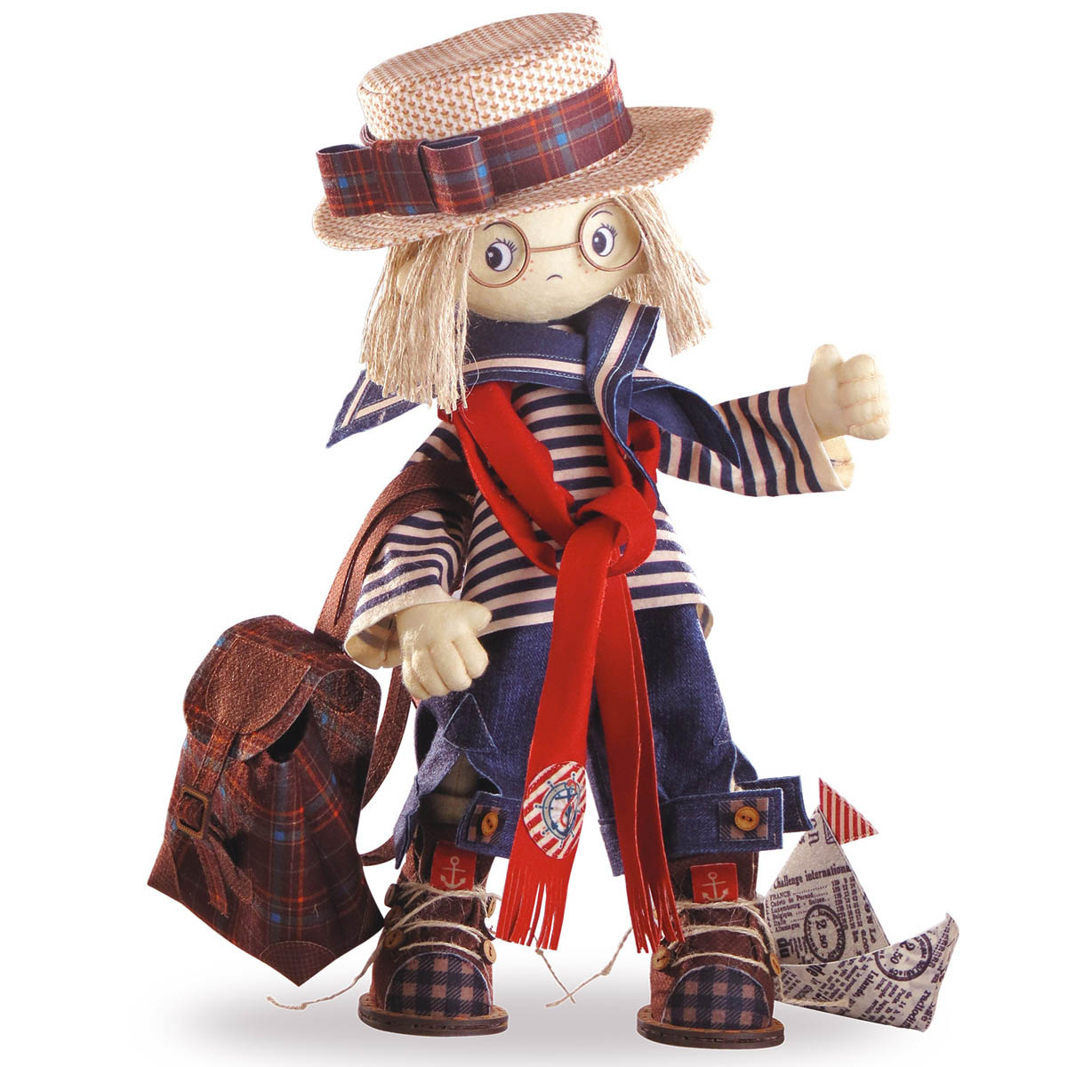 К1029 Набор для создания каркасной текстильной куклы 'Том' 50см