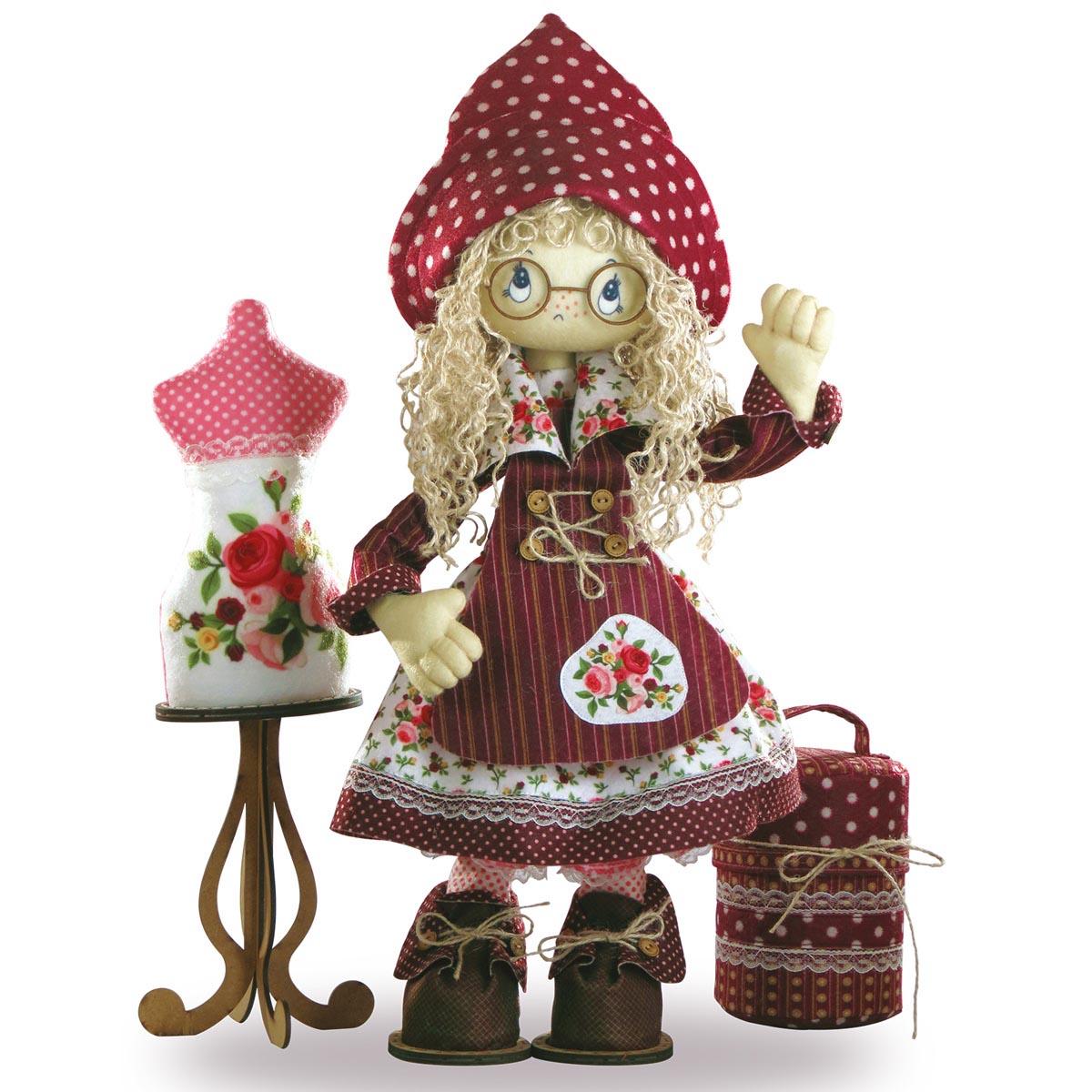К1021 Набор для создания каркасной текстильной куклы 'Модистка' 50см