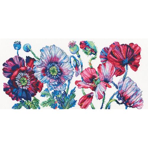 М604 Набор для вышивания РТО 'Пурпурные маки' 45*22см