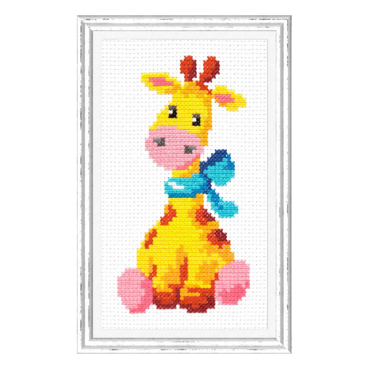 10-34 Набор для вышивания Чудесная игла 'Жирафик'8 *15 см