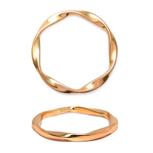 ГД15097 Кольцо мет 40мм, золото цв.02