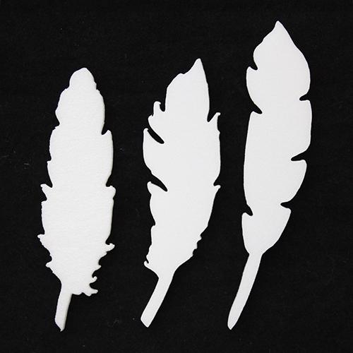 Набор фигурок из пенопласта 'Перья'(9шт) 10см*0,3см