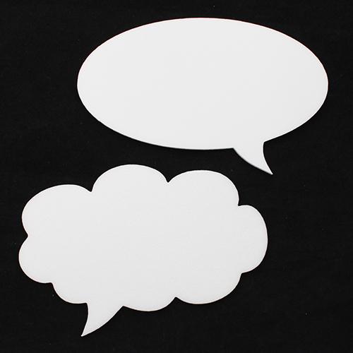 Набор фигурок из пенопласта 'Облака Мысли' (4шт) 18см*0,3см