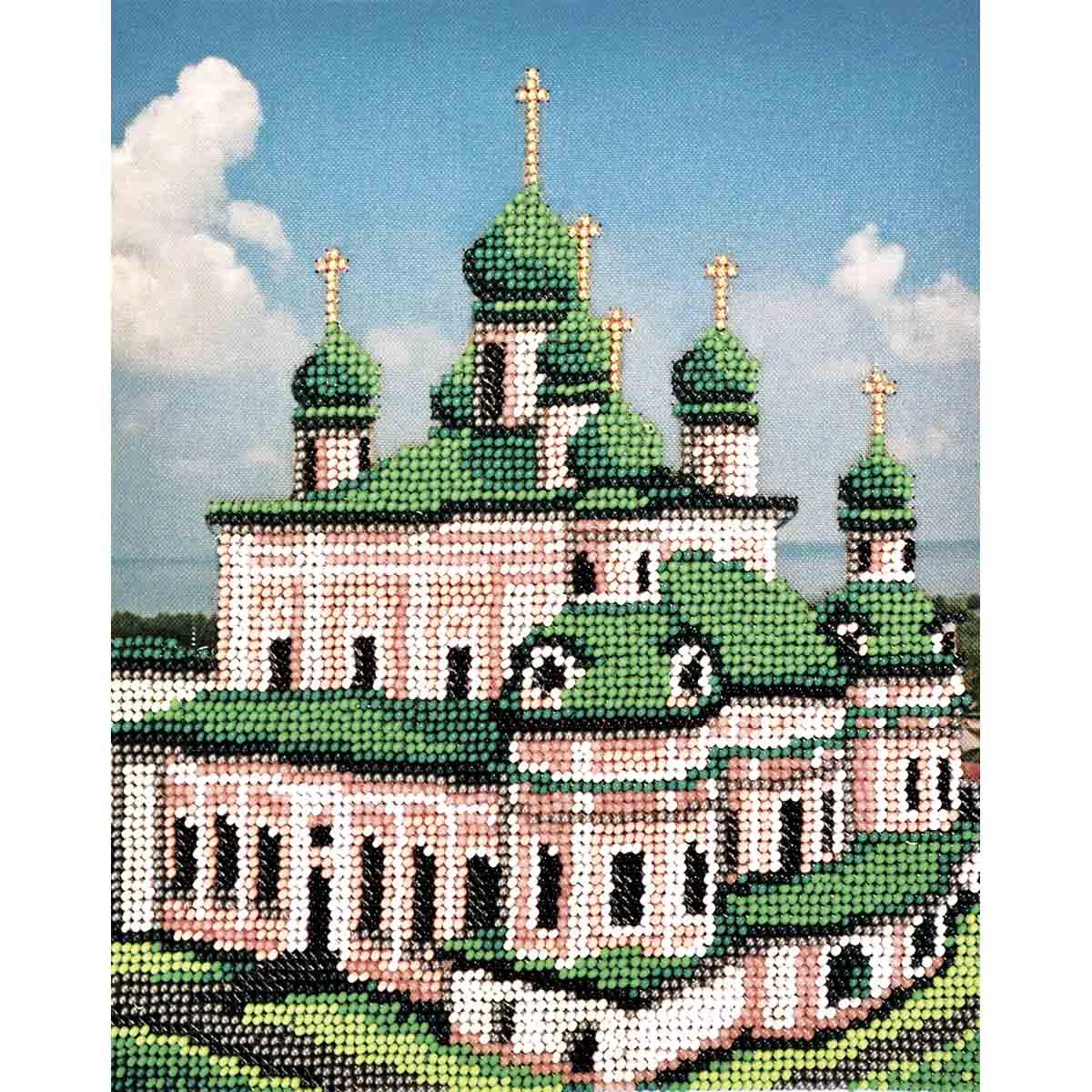 З-103 Набор для вышивания бисером 'Созвездие'серия 'Золотое кольцо'.Никитский мужской монастырь 18*22см