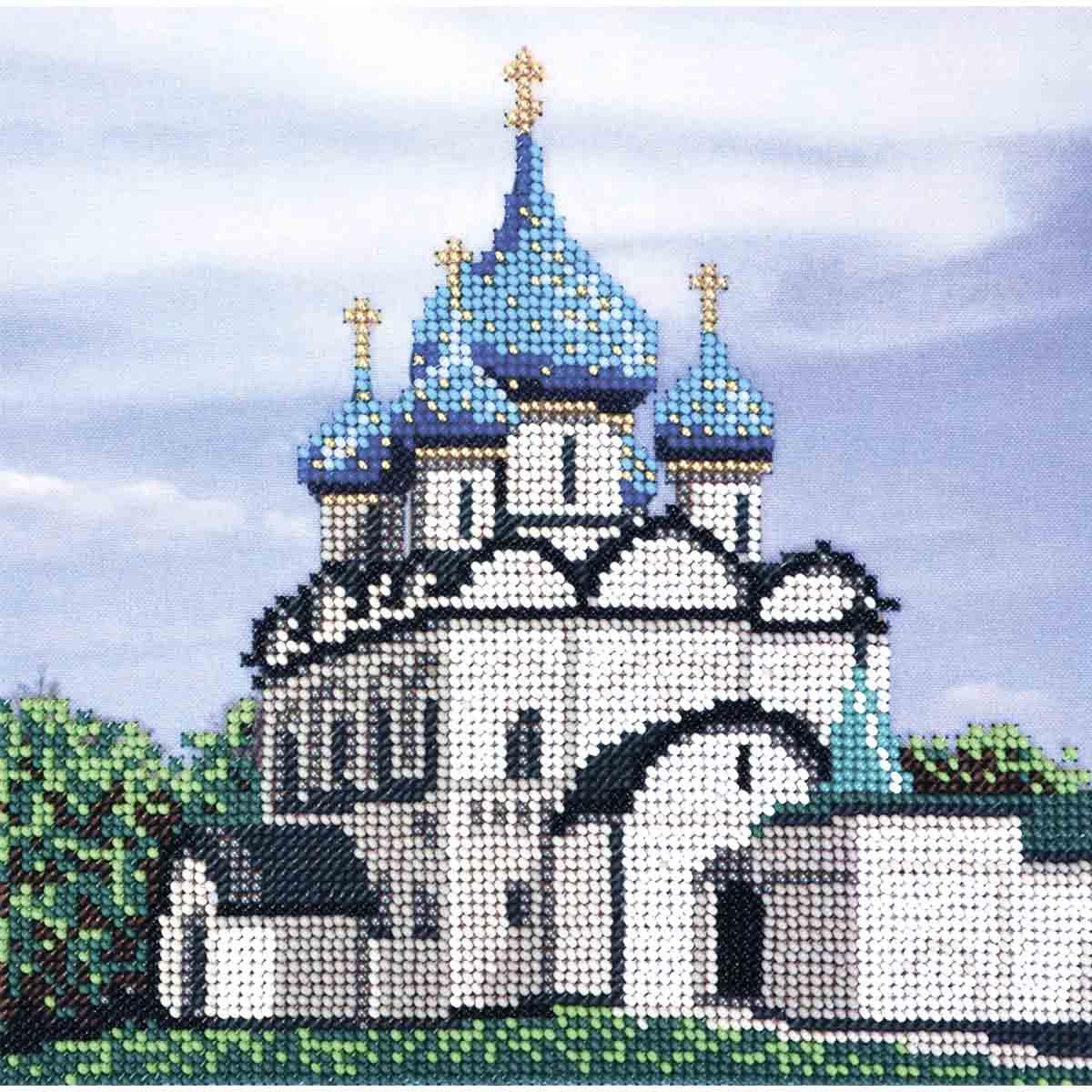 З-108 Набор для вышивания бисером'Созвездие'серия 'Золотое кольцо'.Суздальский кремль 20*20 см
