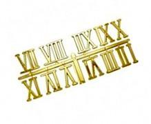 23734 Цифры римские 23мм (большие), пластик, цв. золото