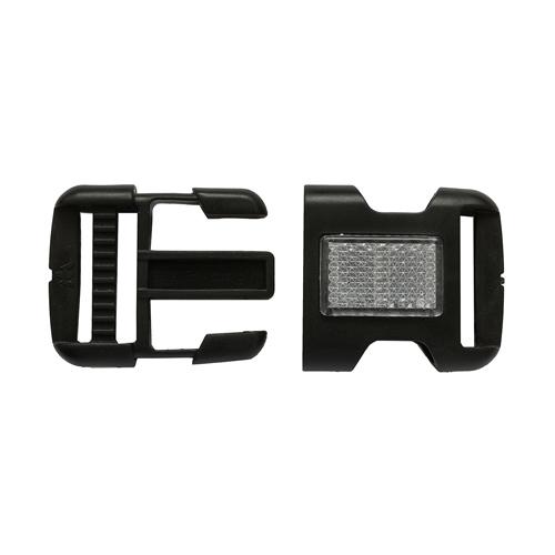 MF4800 Фастекс 30мм черный с бел.отраж.элем.