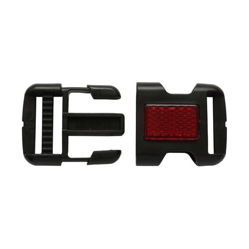 MF4800 Фастекс 30мм черный с красн.отраж.элем.