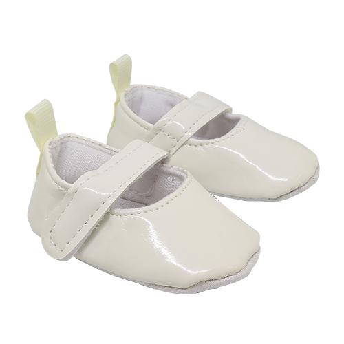 25272 Туфли лакированные, размер по подошве 7,5см*выс.3см, пара, цв.белый
