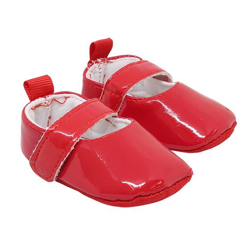 25271 Туфли лакированные, размер по подошве 7,5см*выс.3см, пара, цв.красный
