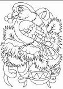 п0000151т Набор для рисования песком с трафаретом 'С Новым Годом' 21*30см