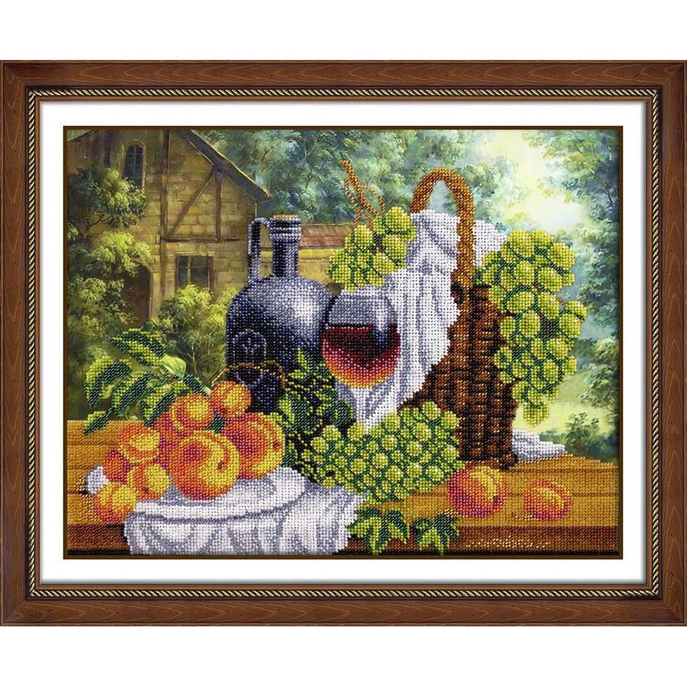 Б1270 Набор для вышивания бисером 'Натюрморт с вином ' 38х28см фото