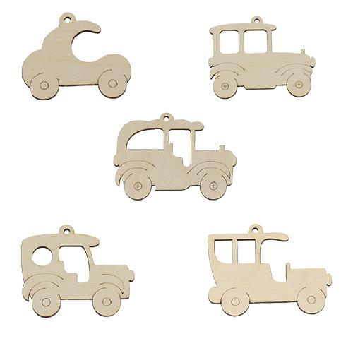 L-893 Набор деревянных заготовок-подвесок 'Автомобили ассорти'упак* 5шт 'Астра'