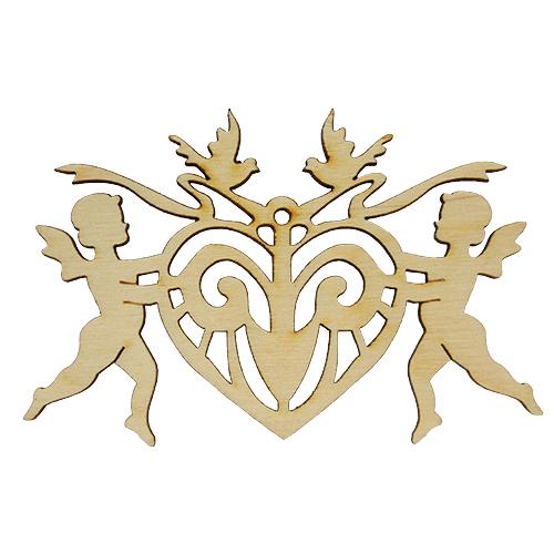 L-913 Деревянная заготовка 'Амурчики с сердечком' 10,5*6,5 см 'Астра'