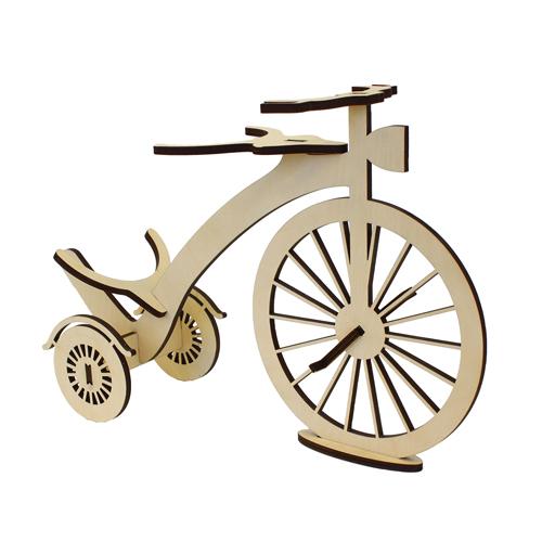 L-852 Деревянная заготовка подставка под бутылку 'Старинный велосипед' 35,5*11*23,5 см 'Астра'