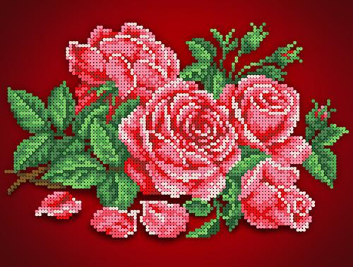 КБЦ-4032 Канва с рисунком для бисера 'Аромат розы ' А4