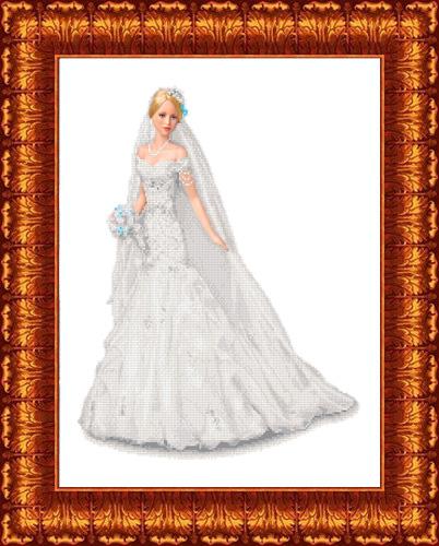 КБЛ - 2008 Канва с рисунком для бисера 'Невеста' А2
