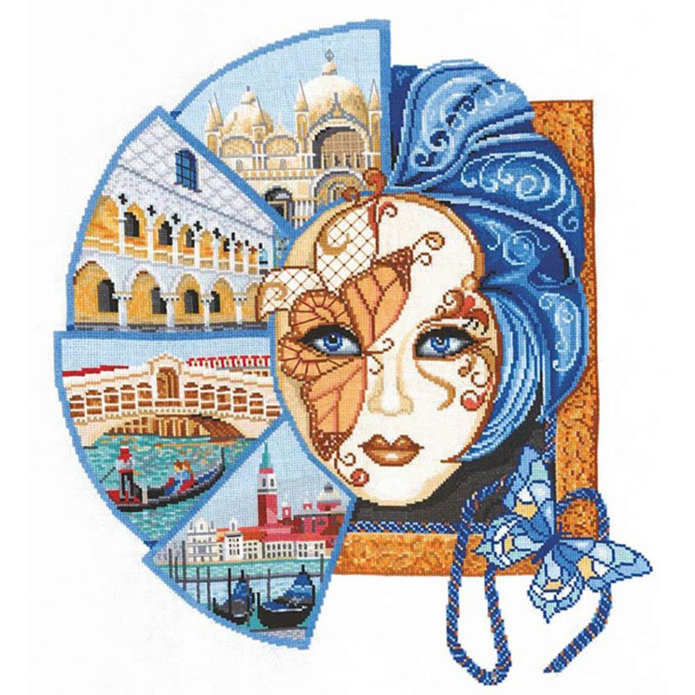 В-29 Набор для вышивания 'Венецианская маска '42х48 см