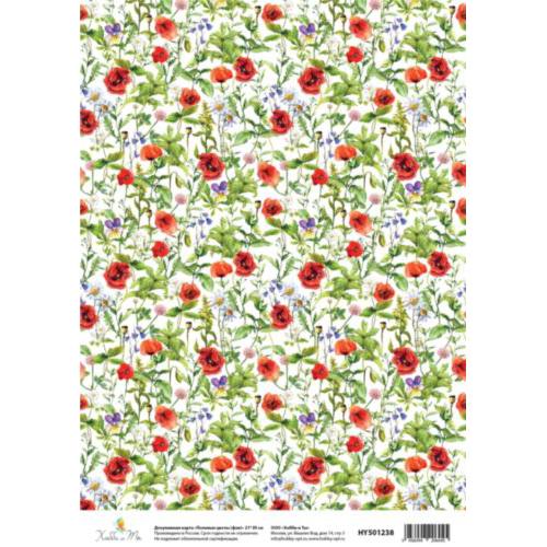 HY501238 Декупажная карта 'Полевые цветы (фон)' 21*30 см
