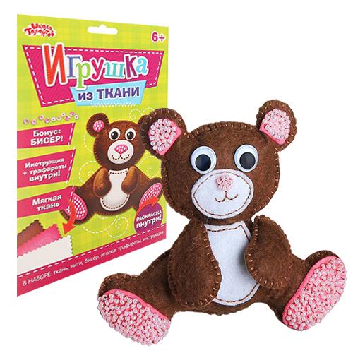2391194 Набор для создания игрушки из фетра 'Мишка' + бисер, игла, мулине