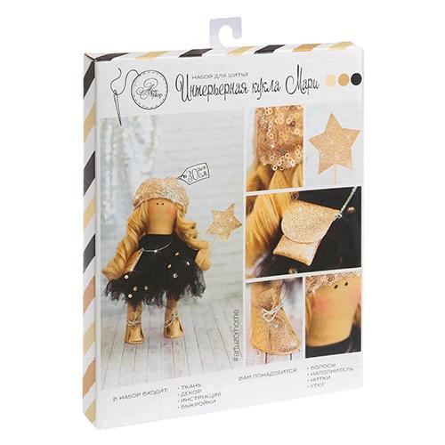 2406622 Набор для шитья Куклы Тильды 'Интерьерная кукла Мари',18.0х22.0х3,6см
