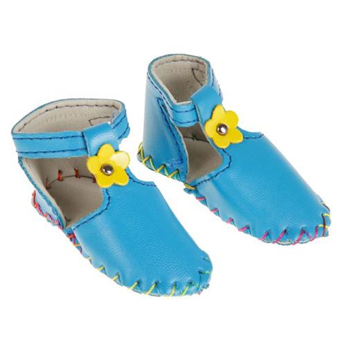 2331163 Сандали для куклы 'Цветочек', длина стопы 7,5 см, 1 пара, цвет голубой