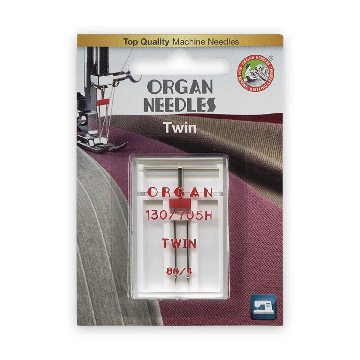 ORGAN иглы двойные 1-80/4 Blister