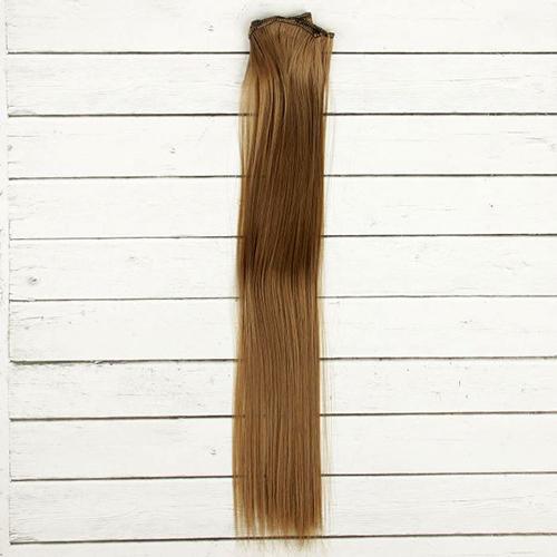 2294376 Волосы - тресс для кукол 'Прямые' длина волос 40 см, ширина 50 см, №18