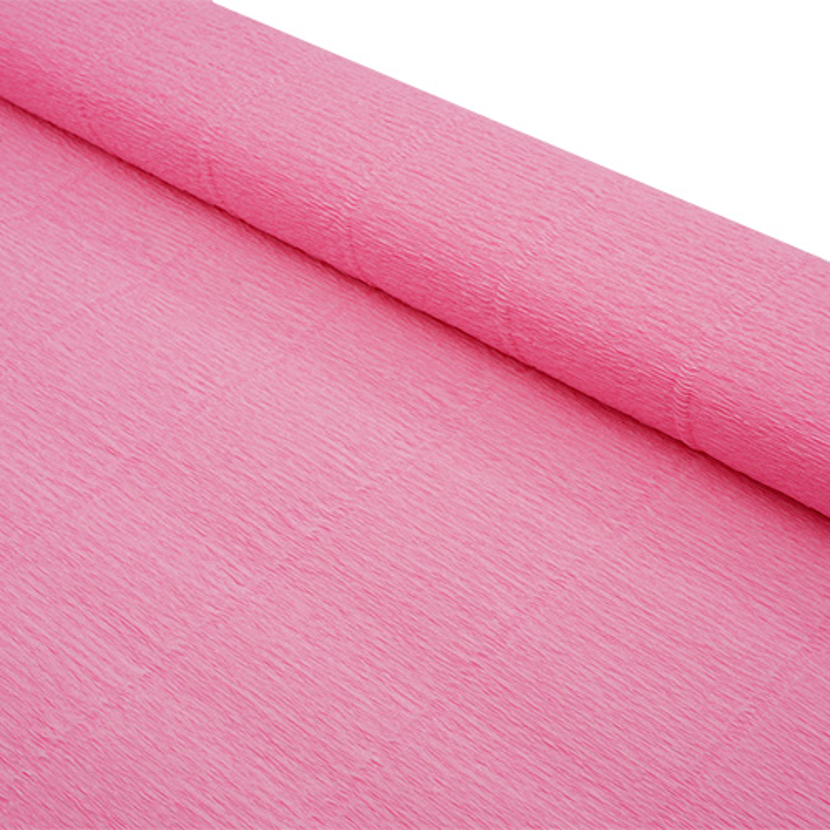 87527561 Бумага гофрированная простая, 50см*2,5м 140гр 949 светло-розовая