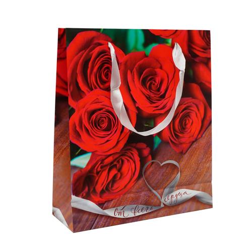2779053 Пакет ламинат вертикальный «От всего сердца», ML 23 х 27 х 8 см