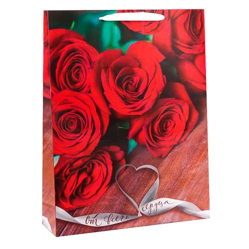 2779054 Пакет ламинат вертикальный «От всего сердца», L 30 х 41 х 11 см